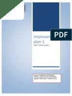 Improvement Plan Lesson 1 Ricardo Fuentealba 2018 Term 1