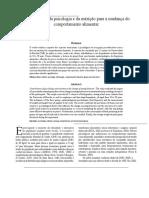 Contribuições Da Psicologia e Nutrição Para a Mudança Do Comportamento Humano