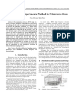 Simulation and Experimental Method for Microwave Oven