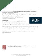 Proliferation of Case Method Teaching