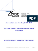 DAAD-NRF Masters and Doctoral Scholarships - Application and Funding Guide 2018
