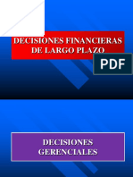 Decisiones Financieras de Largo Plazo