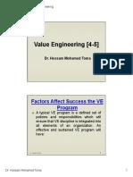 Value Engineering [4-5]