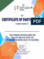 Techtonic Summit Certificate 2018.pdf
