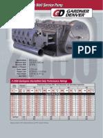 Gardner Denver 1050 c 2500 Quintuplex Well Service Pump