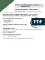 Cuestionario de Medicina Legal III 2do Parcial