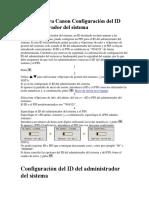 Fotocopiadora Canon Configuración Del ID