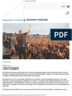Summer is Coming Summer Festivals - GPS Financeiro -