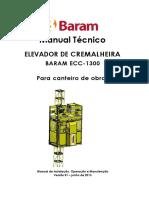 Manual Tecnico Elevador de Cremalheira ECC1300 Rev01 062013
