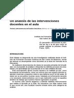 16... Un Analisis de Las Intervenciones Docentes