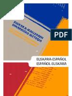 Diccionario Euskera Español