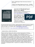 Correlations of Media Habits