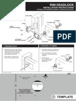 Deadlock Installation Instructions