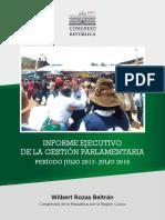 INFORME EJECUTIVO DE GESTIÓN WILBERT ROZAS 2017 - 2018