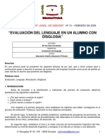 Evaluacion Del Lenguaje de Un alumno Con Disglosia