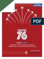 PhiladelphiaBusinessJournal Sept. 29, 2017 Soaring76