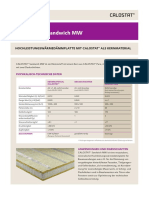 Produktinformation CALOSTAT Sandwich MW