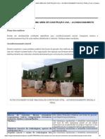 Fluxo dos resíduos construção civil