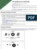 UNICODE Símbolos Gráficos en Unicode. HTML. Páginas Web HTML y Hojas de Estilo CSS. Bartolomé Sintes Marco