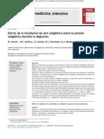 Efecto de La Insuflación Sobre La Presión Subglótica en La Deglución