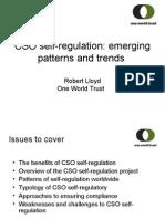 CSO self-regulation