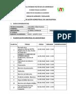 Planificación Algebra CI - 16