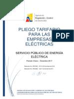 Pliego Tarifario Del Spee 2017 Resolución Nro. 032-17