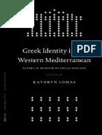 K Lomas Greek Identity in the Western Mediterranean