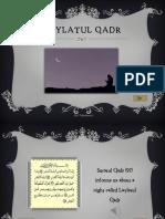 Ramadan Ppt Laylatul Qadr Nv Tj