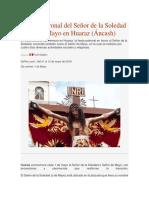Señor de La Soledad o de Mayo en Huaraz