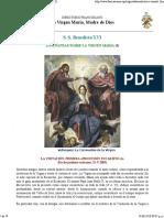 Benedicto XVI, Enseñanzas Sobre La Virgen María (II)