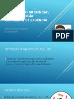 7.- Seminario Diagnóstico Diferencial de La Patología Abdominal de Urgencias - Dr. Gutierrez