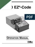 Ilco Ez Code Operation Manual