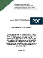 Directiva Formato a Presentar Sgdsu