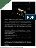 Leica M6 Horizontal rangefinder adjustment