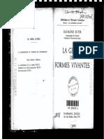 Raymond Ruyer-La Genèse Des Formes Vivantes-Flammarion (1956)