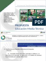 PROPUESTA DE EDUCACIÓN MEDIA TÉCNICA