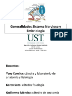 Generalidades Sistema Nervioso y EmbriologÃ_a