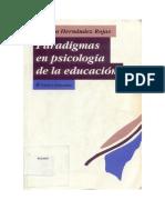Paradigmas en Psicología de La Educación
