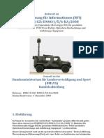 Anforderung für Informationen (RFI) Gesandt an das Bundesministerium für Landesverteidigung und Sport (BMLVS) Handelsabteilung