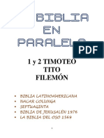 10.-La Biblia en Paralelo 1y2 Timoteo, Tito, Filemón