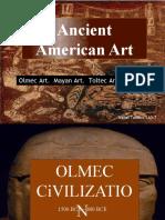 Ancient American Art (Art History Finals Reporting)