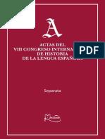 Ponencia Congreso Historia de la Lengua Española 2009