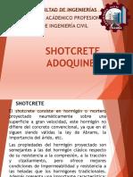 Informe de Shotcrete Adoquines - Materiales de Construccion
