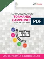 Autonomia Curricular, Manual del proyecto Proyecto