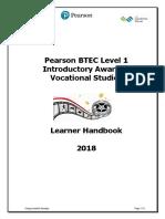 BTEC L1 Course Handbook for Performing Arts