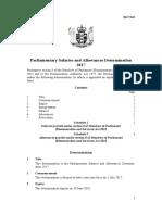 Parliamentary Salaries and Allowances Determination 2017