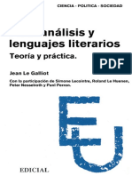 Psicoanálisis y Lenguajes Literarios LE GALLIOT