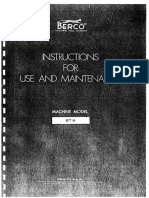 Berco Line Borer User Manual