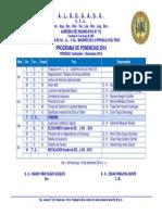 Programa Ponencias Setiembre Diciembre 2014